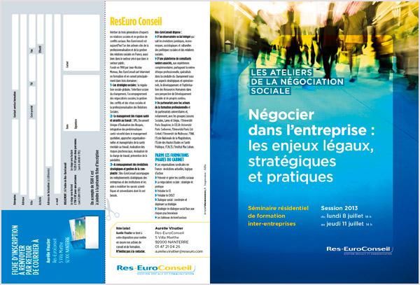 Couverture de brochure Ateliers de la Négociation Sociale
