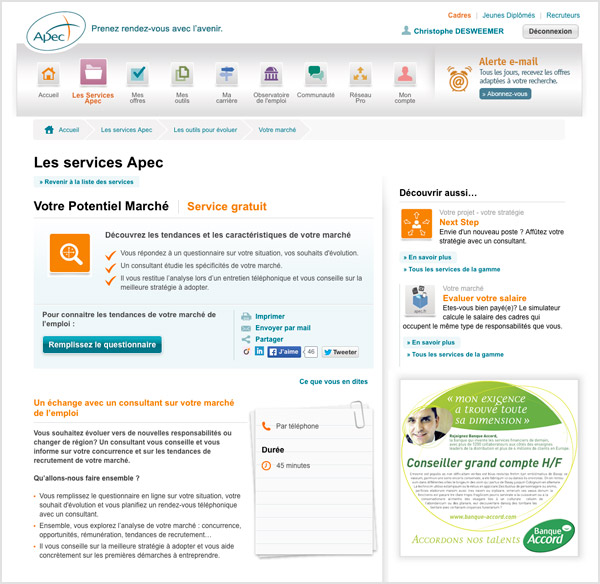 Insertion annonce web banque accord