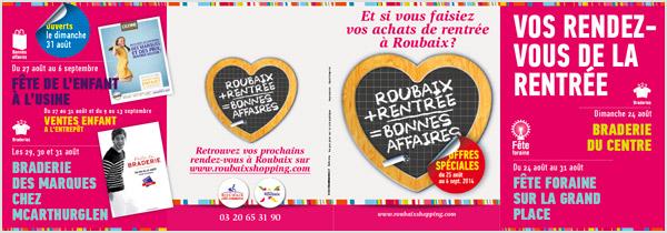 Edition promotionnel de Roubaix Côté Commerce