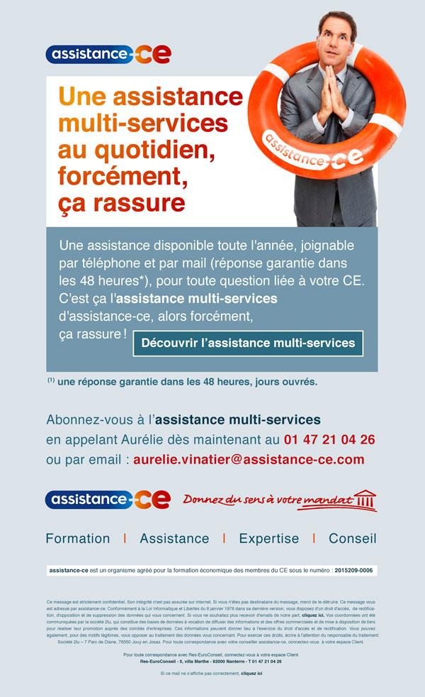 présentation de l'emailing de l'assistance multi-services