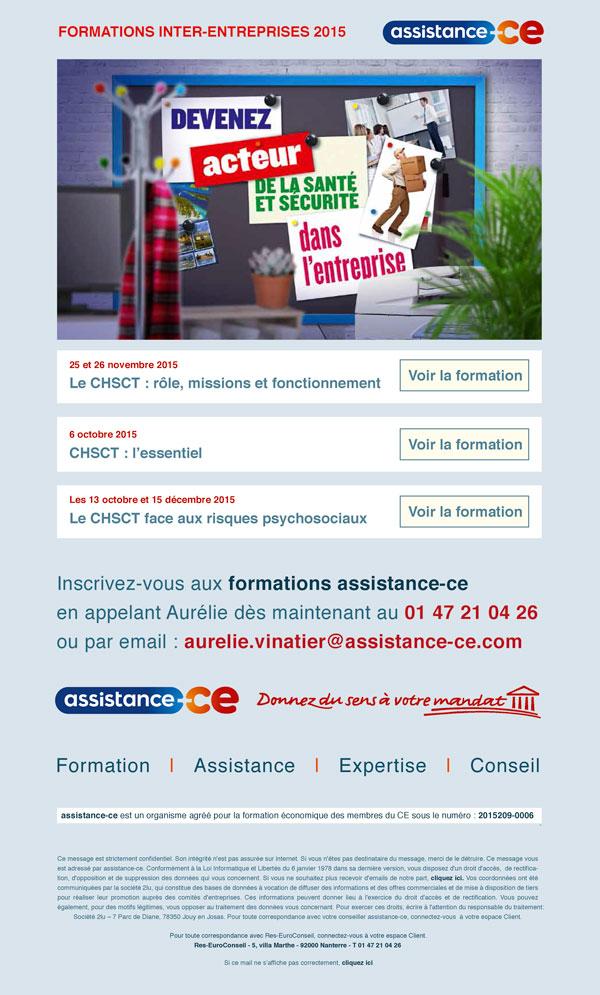 Présentation emailing de promotion des CHSCT